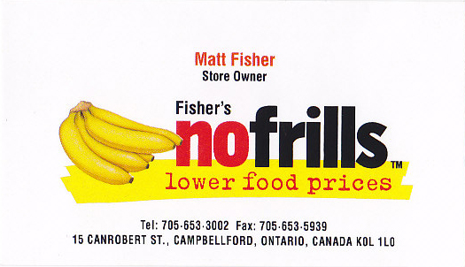 Fisher's No Frills
